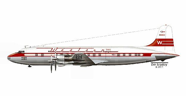 Western Air Lines Dc 6b